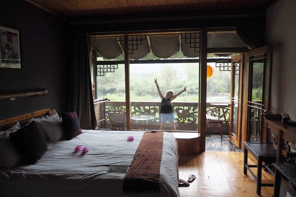 WE could see all the way up the river from our bed!