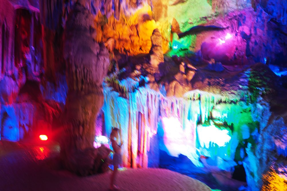 So much colour! These caves are super fun...