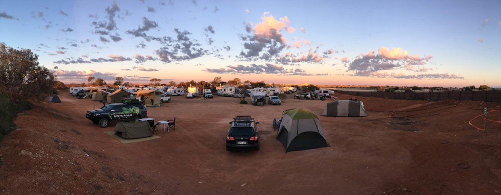 What a sight - camping ground at Coober Pedy
