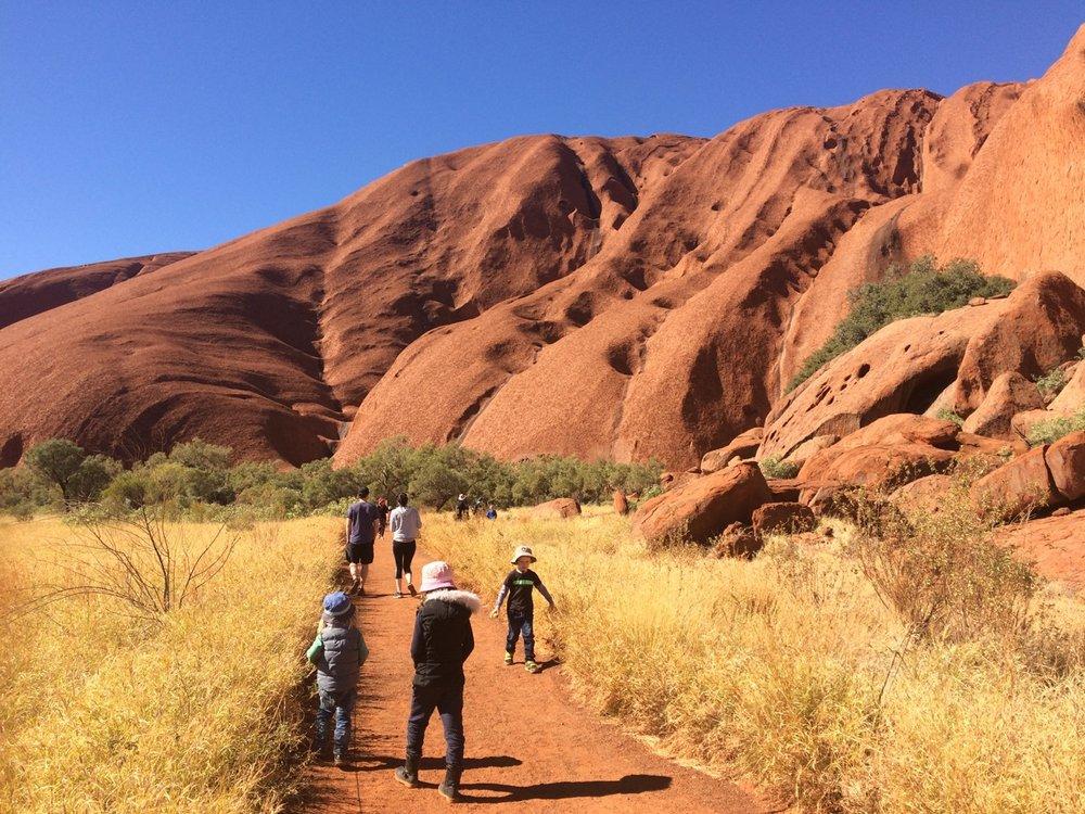 Incredible Uluru in central Australia