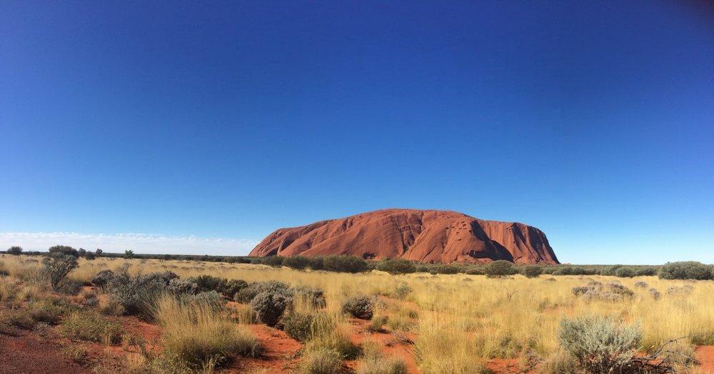 The beautiful, sacred Uluru