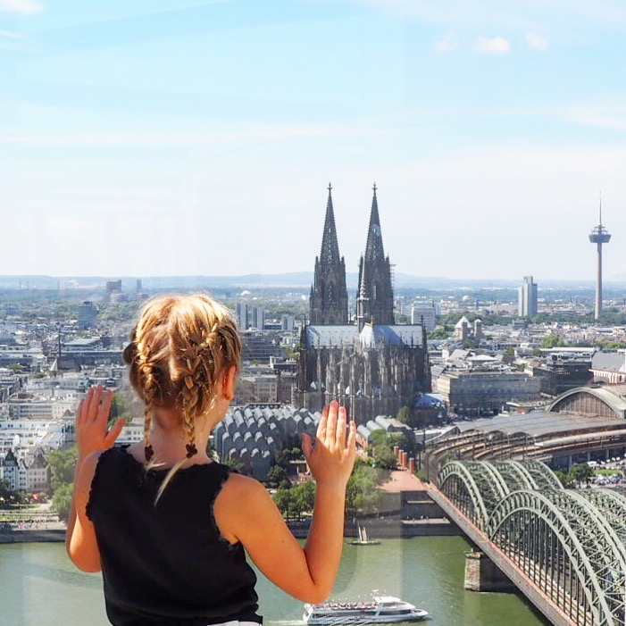 Take the lift up to the Cologne Triangle Panorama - a great spot for kids in Cologne