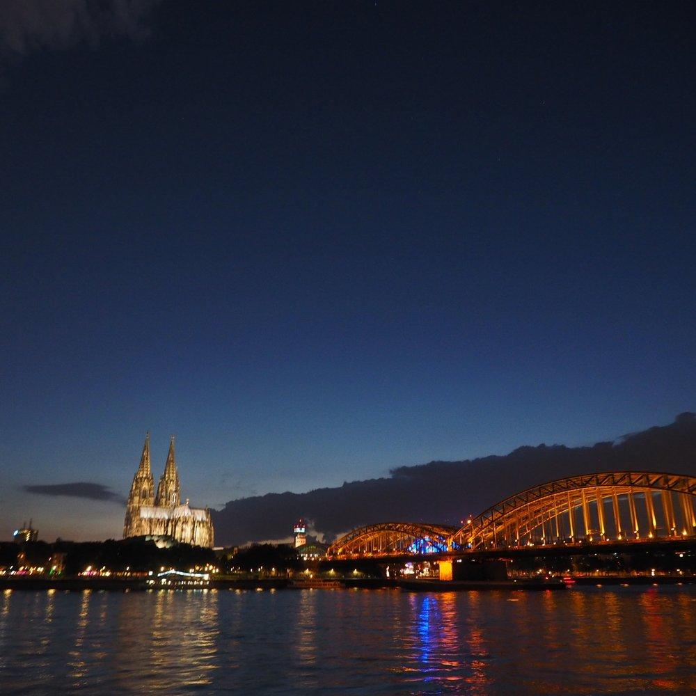 Night time on the Rhine - a bit fuzzy soz.