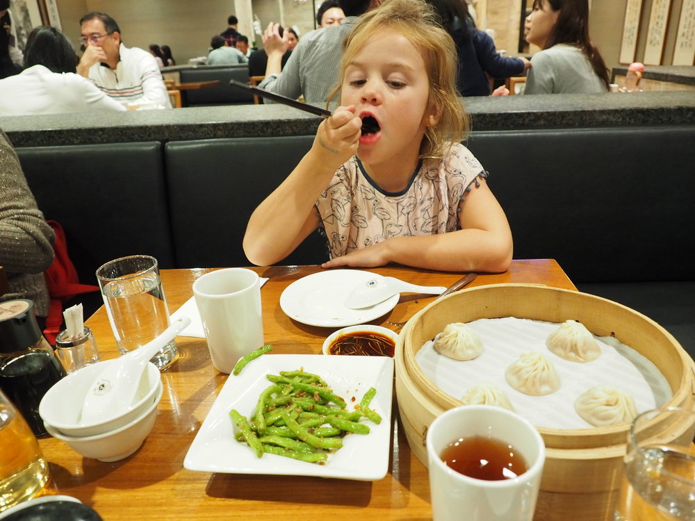 You have to have dinner at Din Tai Fung in Taipei 101!