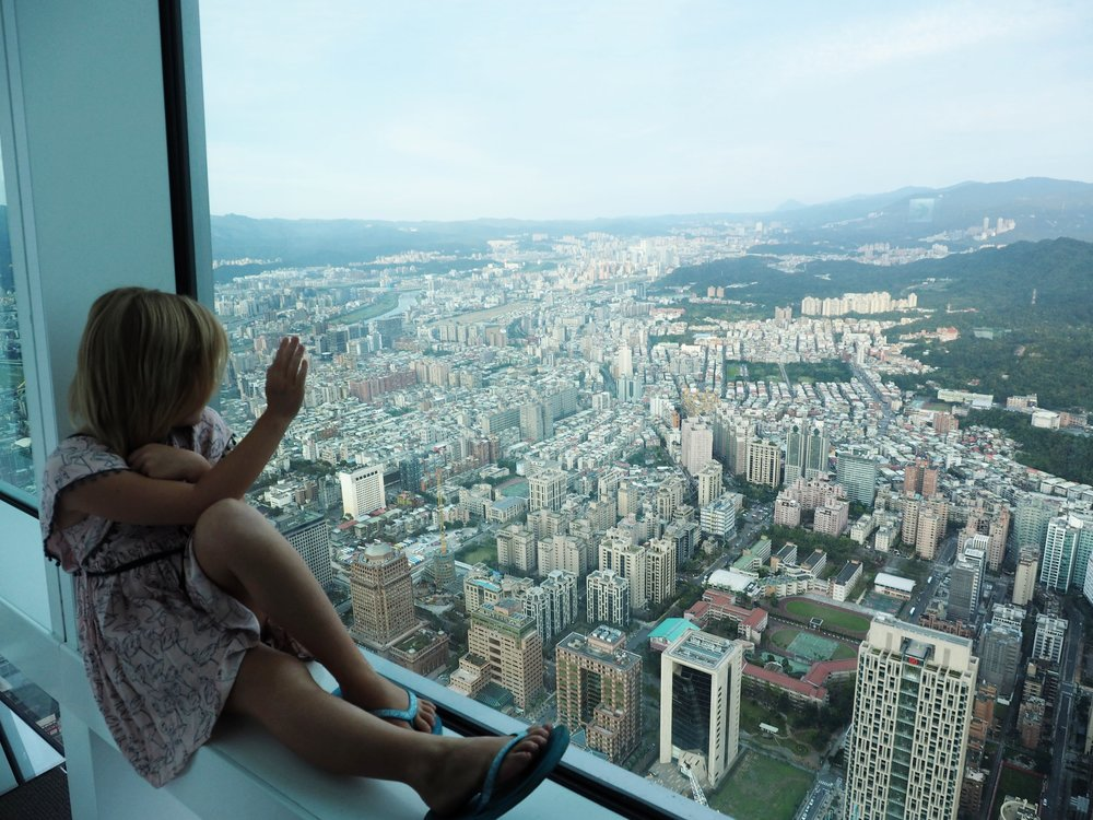 Gorgeous view form the top of Taipei 101, Taiwan