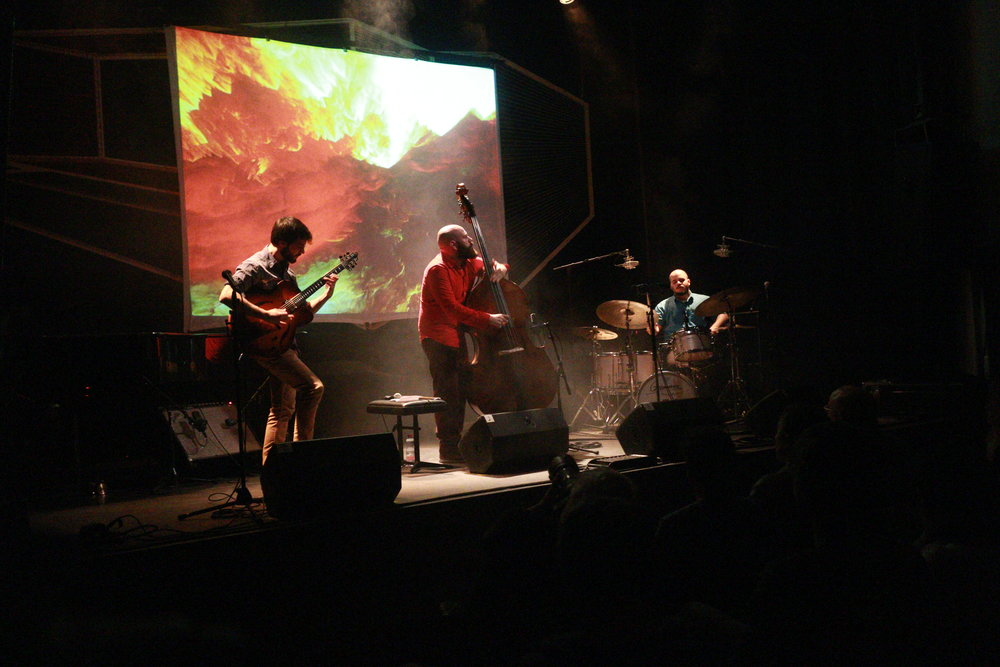 Live at Jazzwerkstatt Festival - Bern, Switzerland Visuals by Luis Sanz, Photo by Phelan Burgoyne