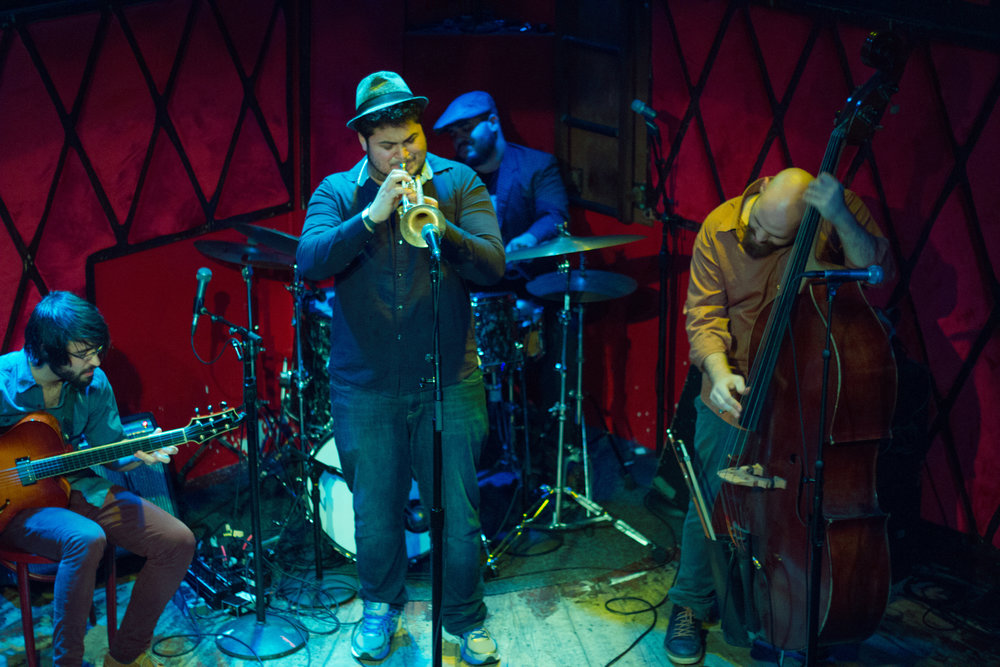 Live at Rockwood Music Hall, NYC, W/ trumpeter Adam O'Farrill By Noel Woodford