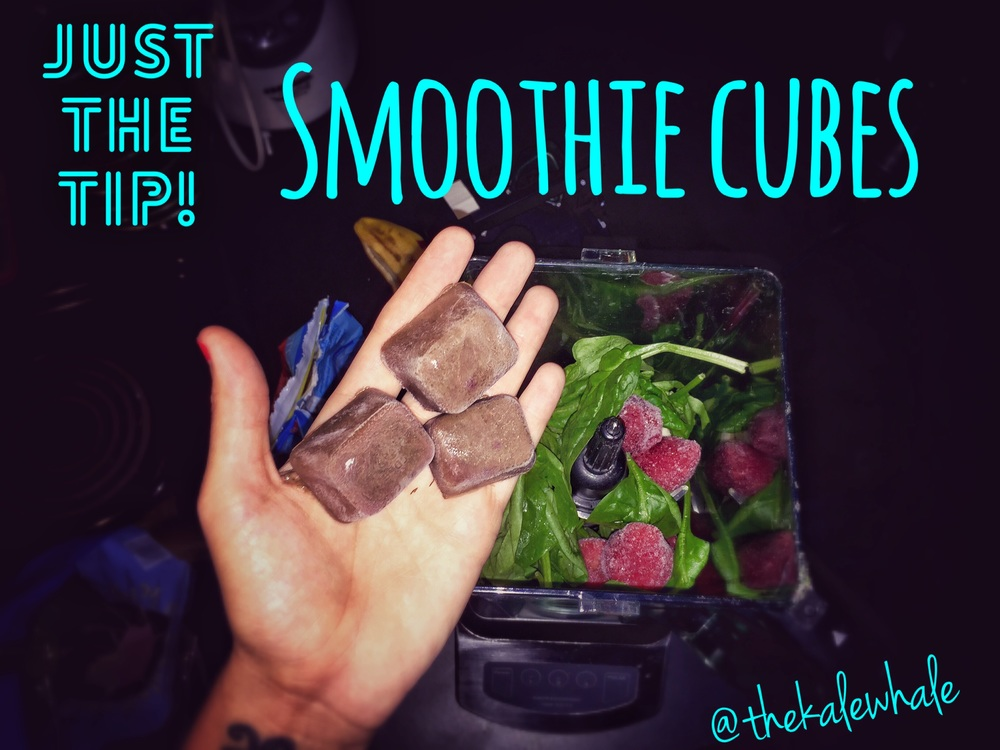 Use leftover smoothies to make more smoothies!