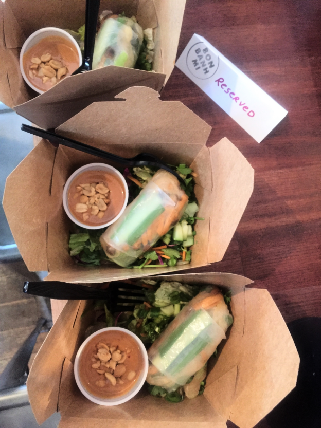 These spring rolls were part of our first  Veggie Crawl . Lucky us!