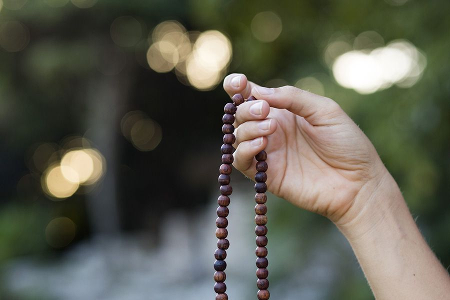 Image result for meditation with mala