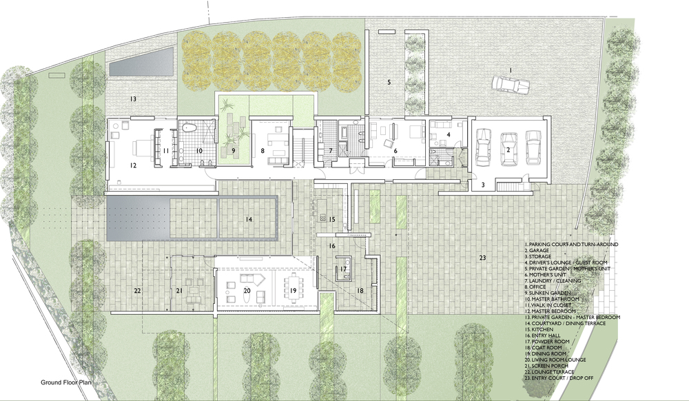 Ground Floor Plan | Russia House | Jennifer Turner Architect