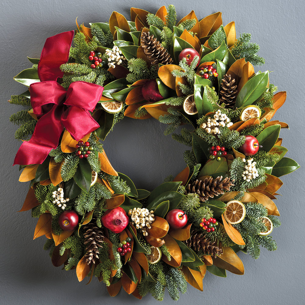 holiday wreath w fruit & pinecones.jpg
