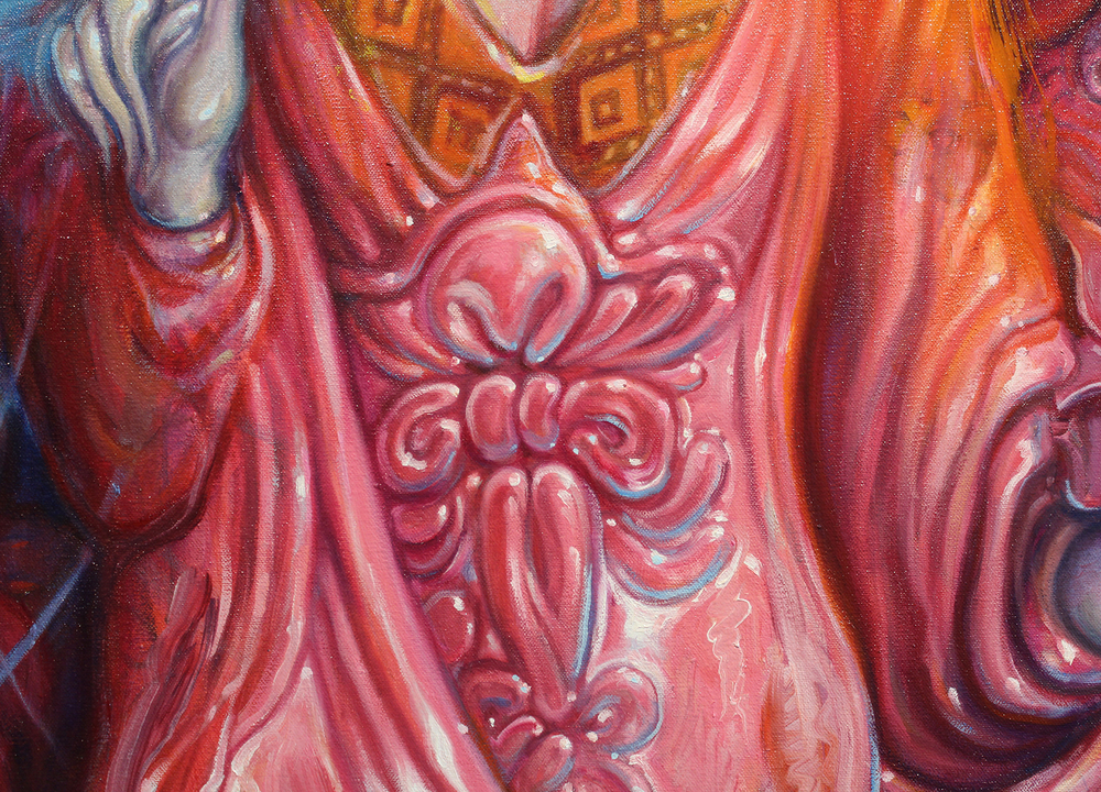 Detail, Our Lady of the Cosmos Conjuring a Space Warp