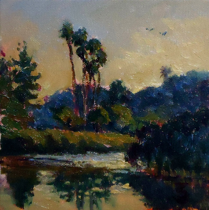Palms, 6 x 6 | oil on canvas