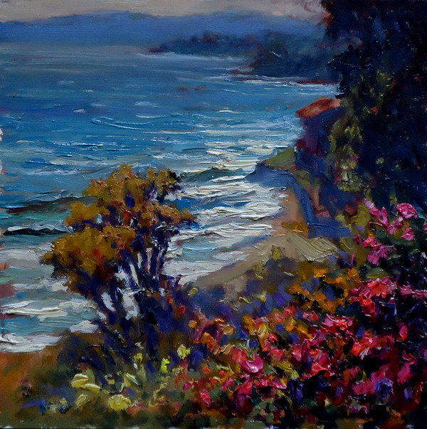 Summerland Vista, 8 x 8 | oil on board