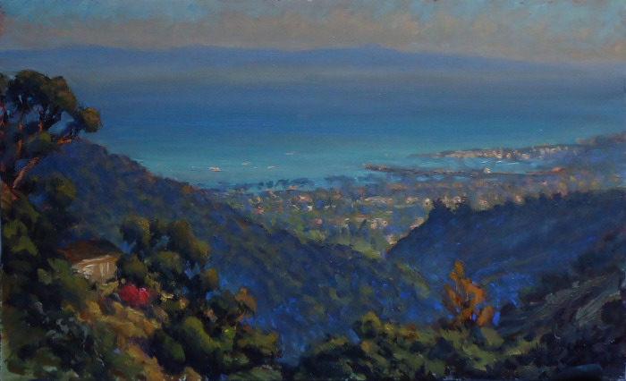 Mountain Drive Vista, 12x24 | oil on canvas