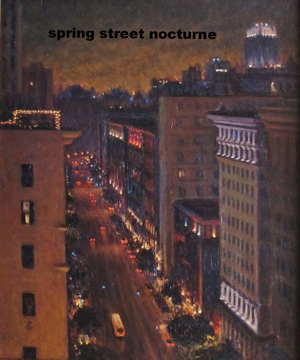Spring Street Nocturne, 24 x 20 inches
