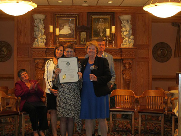 In October 2017, COIPP president Shari Scher was recognized for her work by the  Women's Democratic League   of Frederick County.
