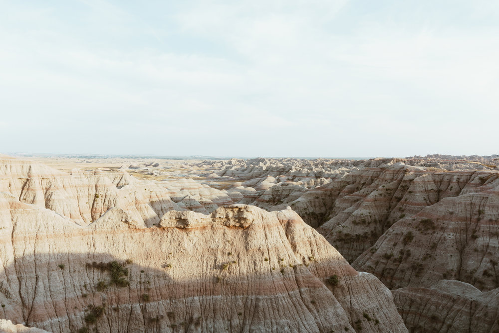 the badlands - layers of the land i