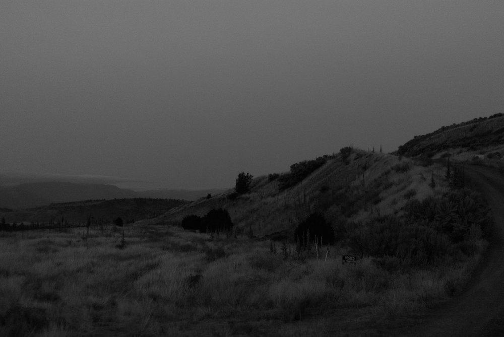 north of yellowstone somewhere - black and white