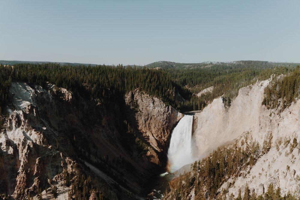 yellowstone - waterfall