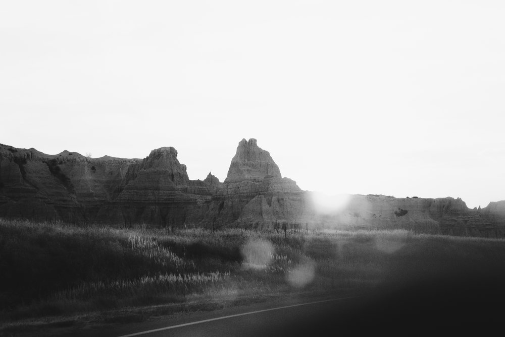the badlands - b+w