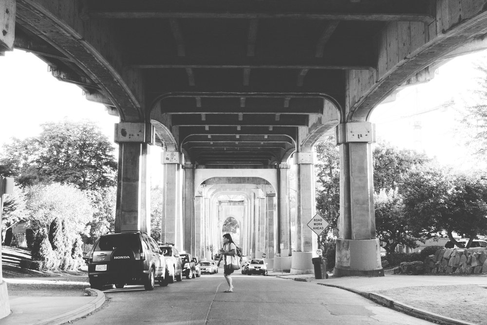 under the fremont bridge pt.2 - b+w