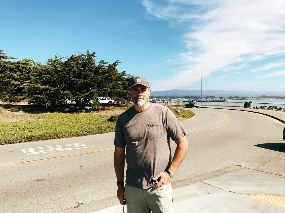 that's my dad on his birthday, in California … cute right?!
