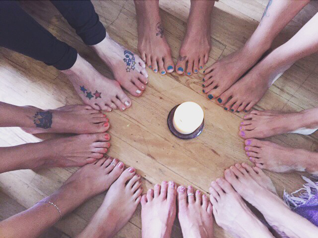Our closing meditation circle