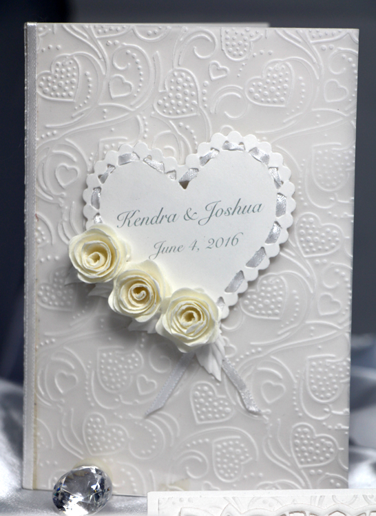 A handmade wedding card--Contact EC Papercrafts to create your own one-of-a-kind card for that special occasion!
