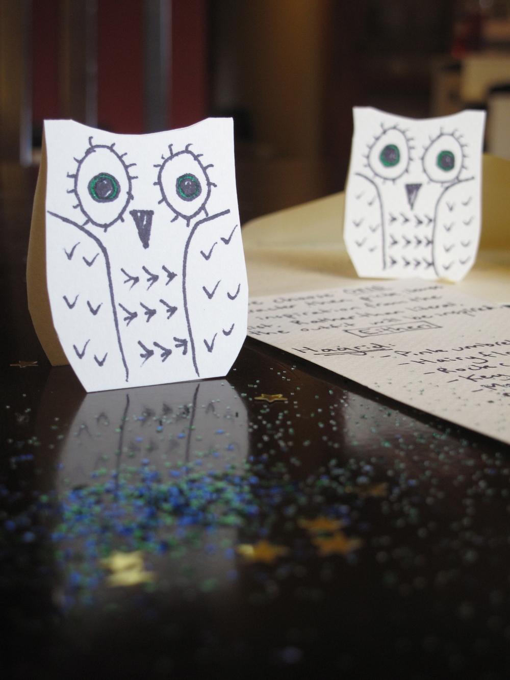 owl post Harry Potter DIY