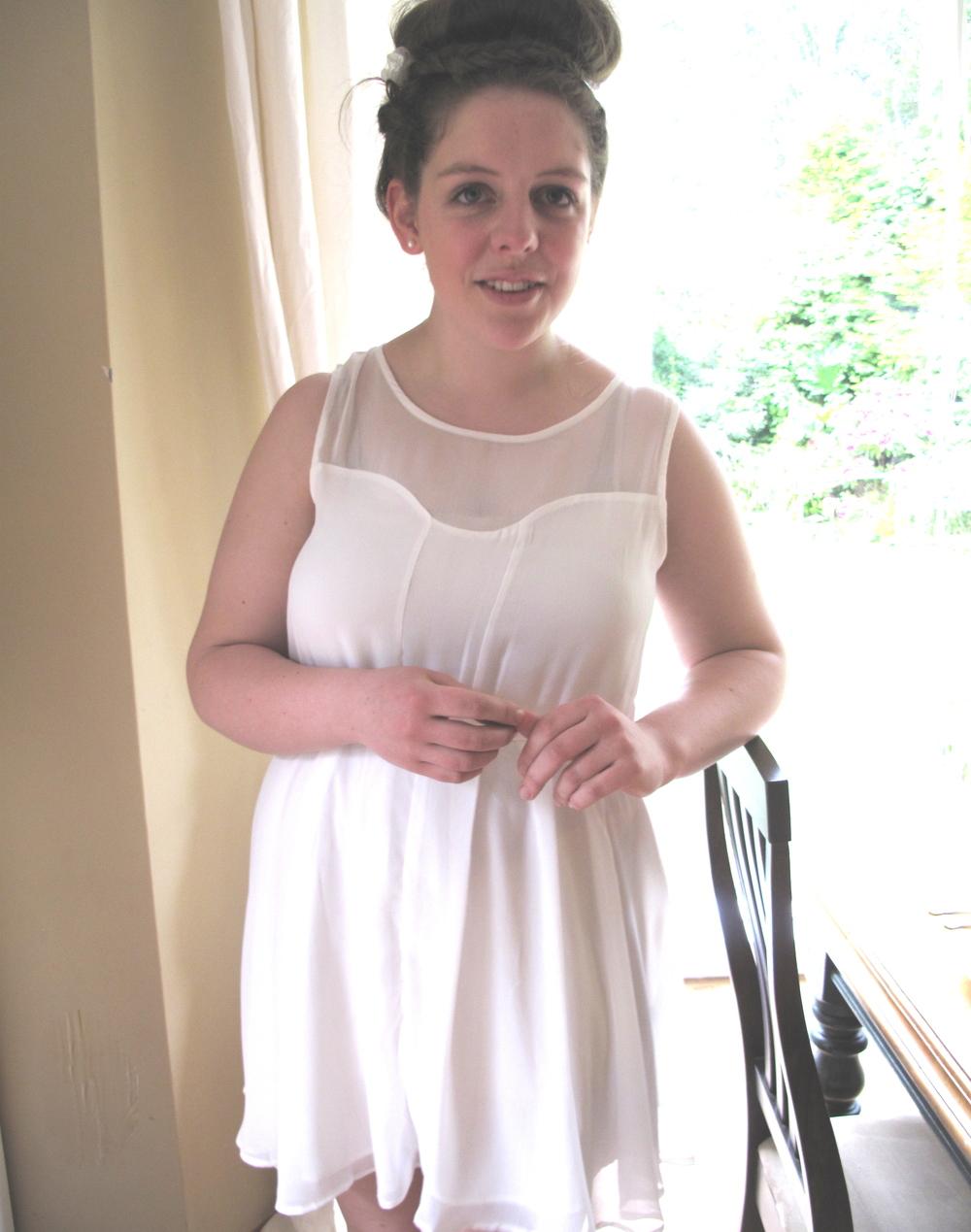 Louise in a pretty dress