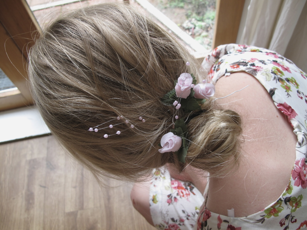 Marie Antoinette party simple hairstyle