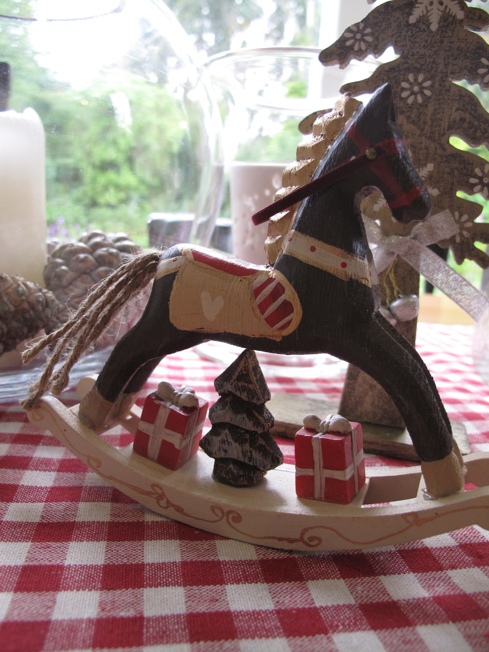 Christmas rocking horse decoration