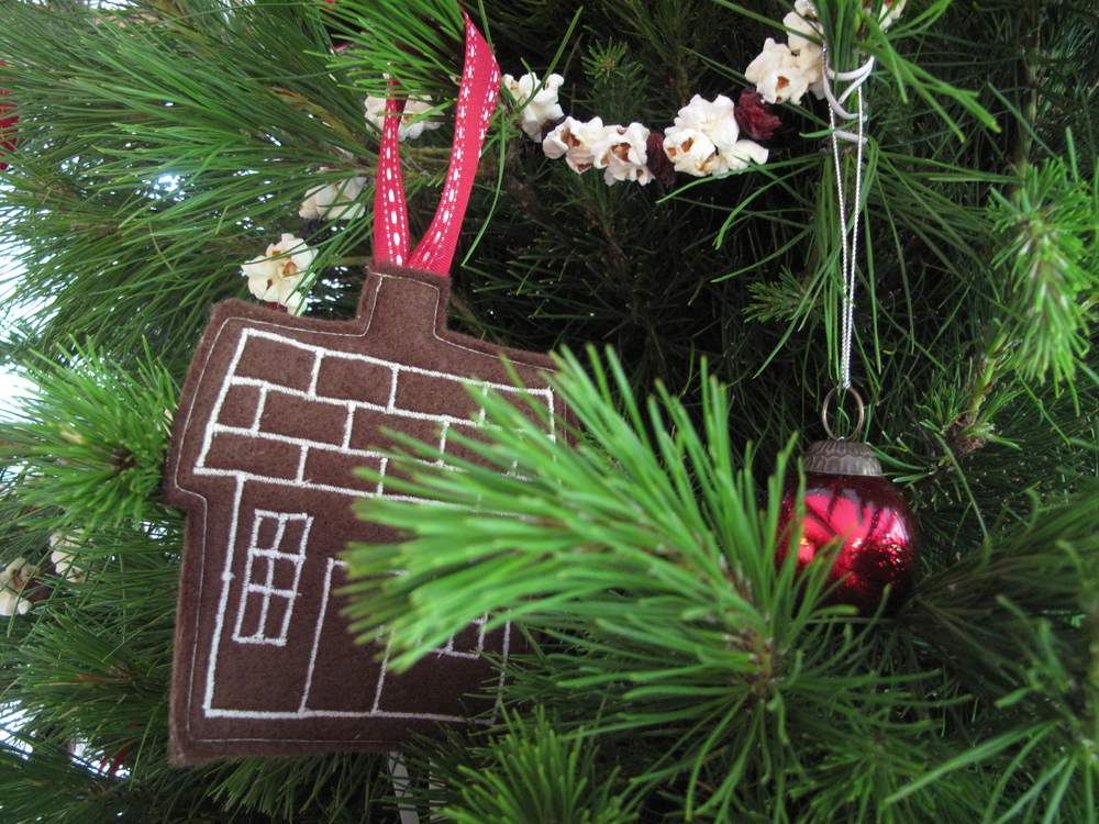 Christmas tree felt house decoration
