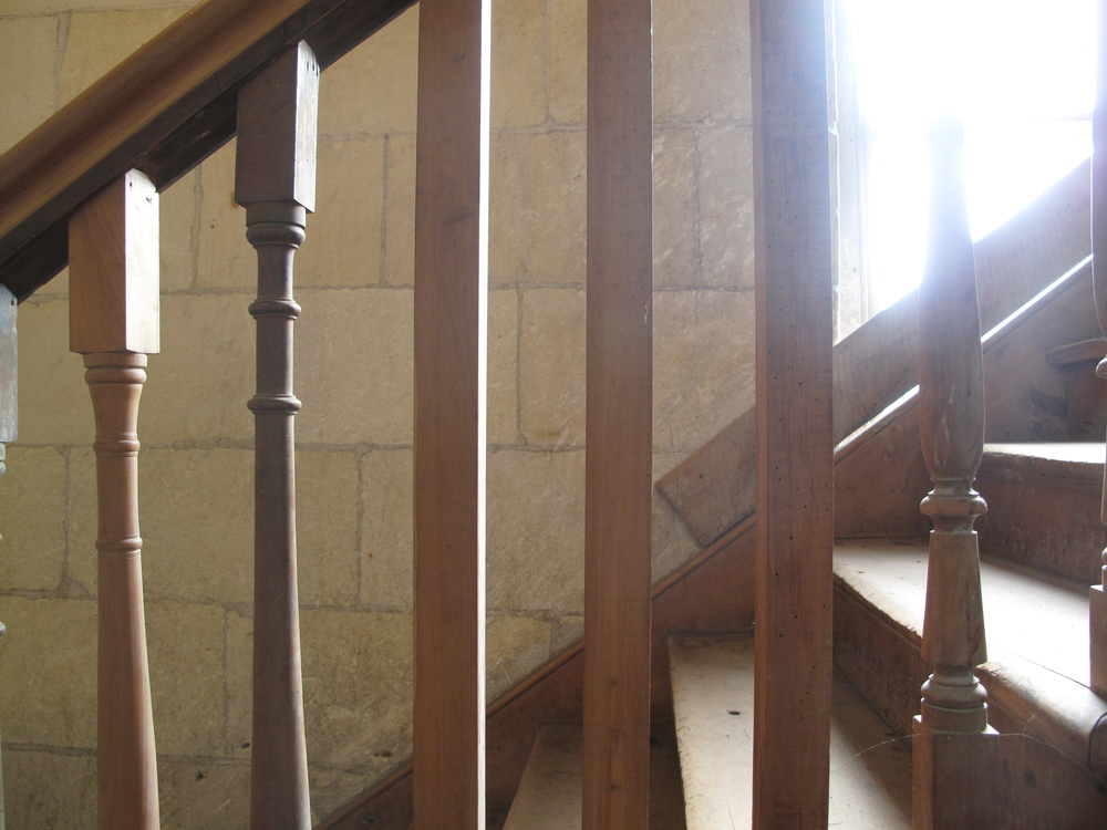 Old staircase in Victorian precinct, Oamaru
