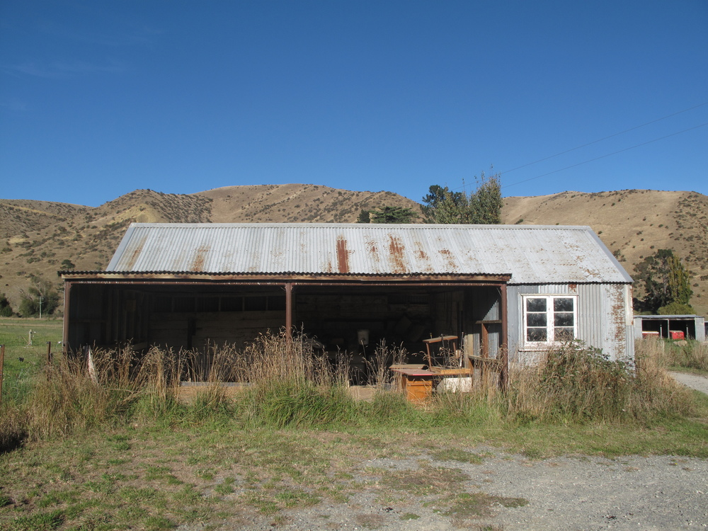 Kurow shed, in the wop wops of New Zealand