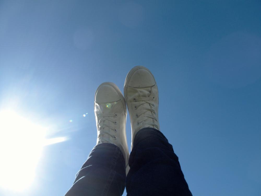 Handstands in the blue sky