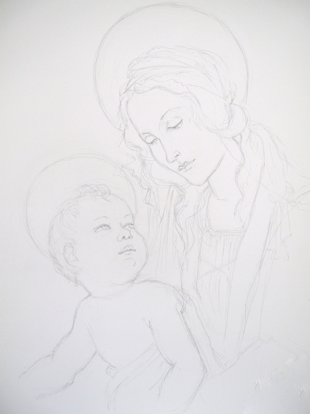 Virgin and Child sketch