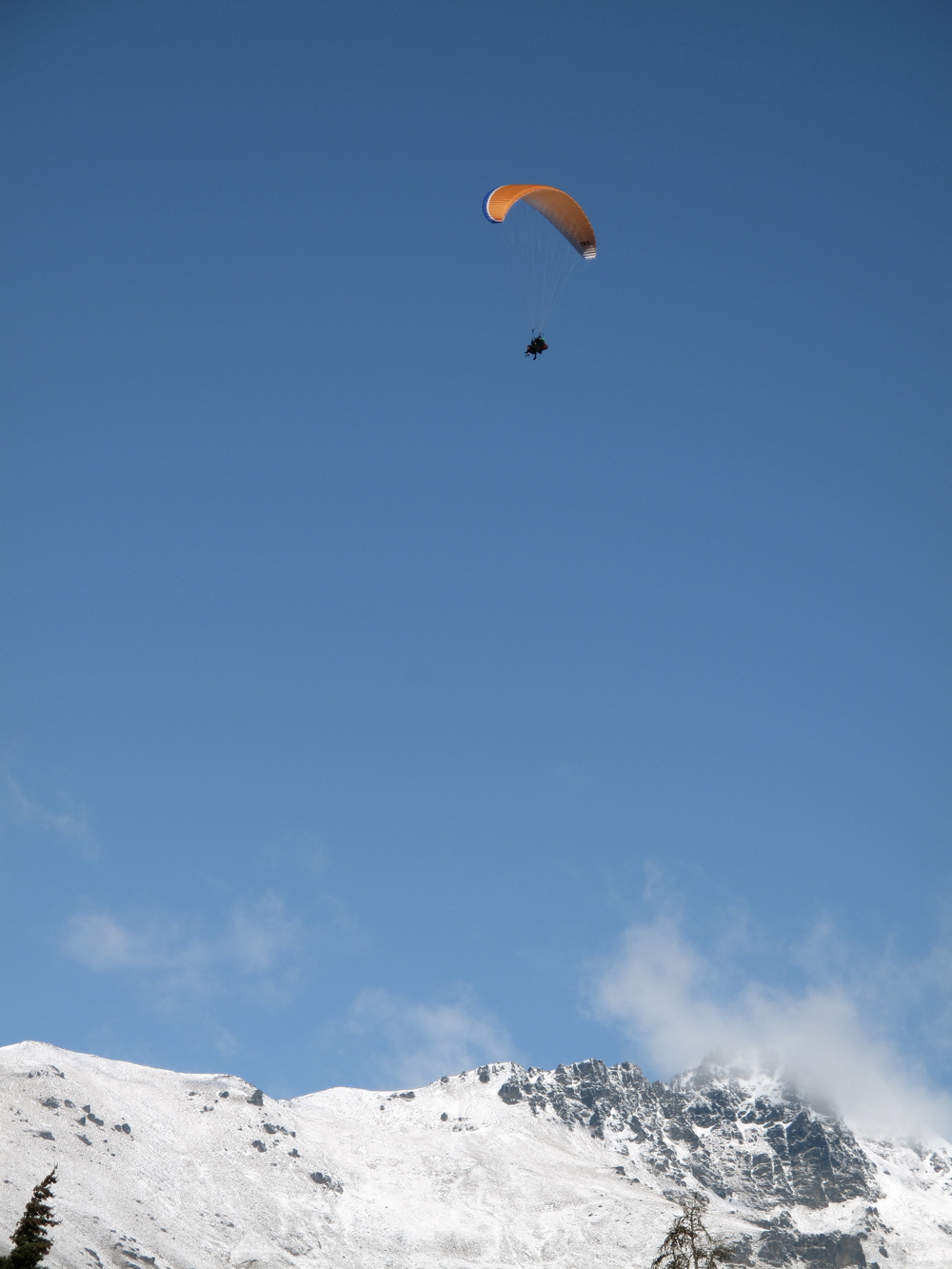 Parachuting in Queenstown above the mountains, NZ