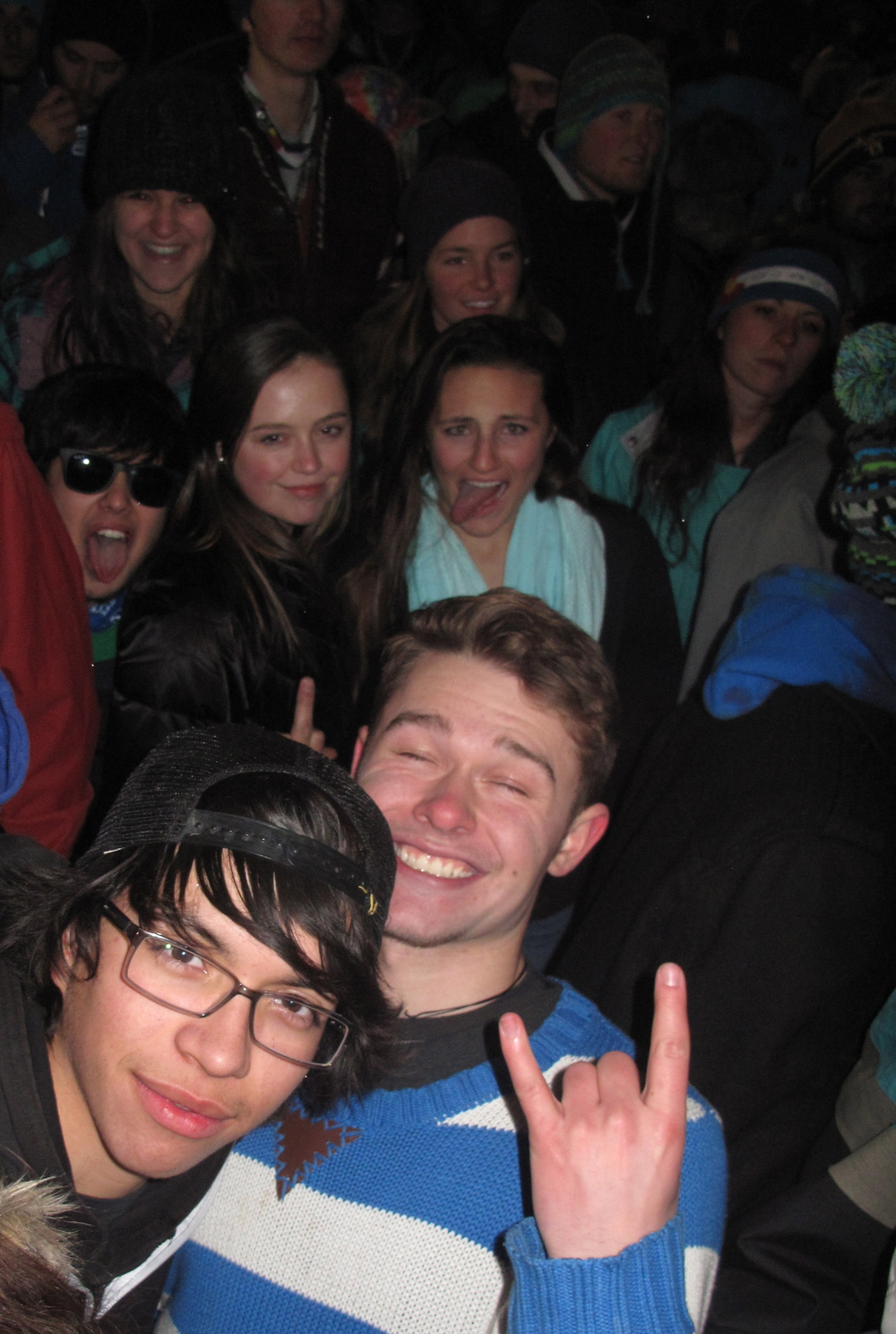 Young wild and free - Dannin and Oliver at Snow Daze party and concert in CO