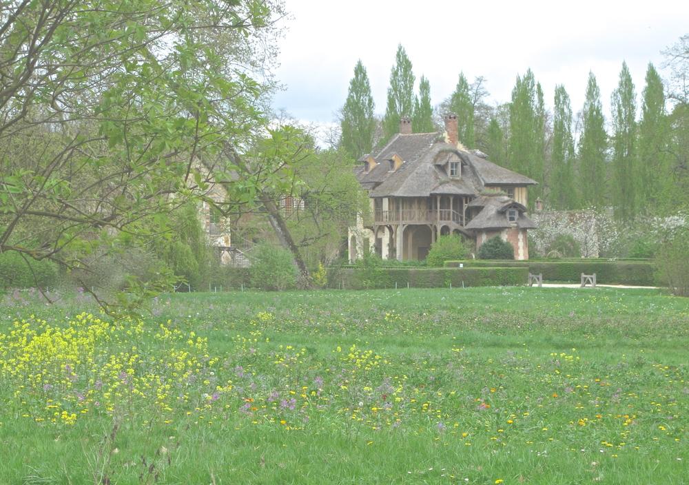 Hameau de la Reine - Marie Antoinette's farm houses and fields of flowers