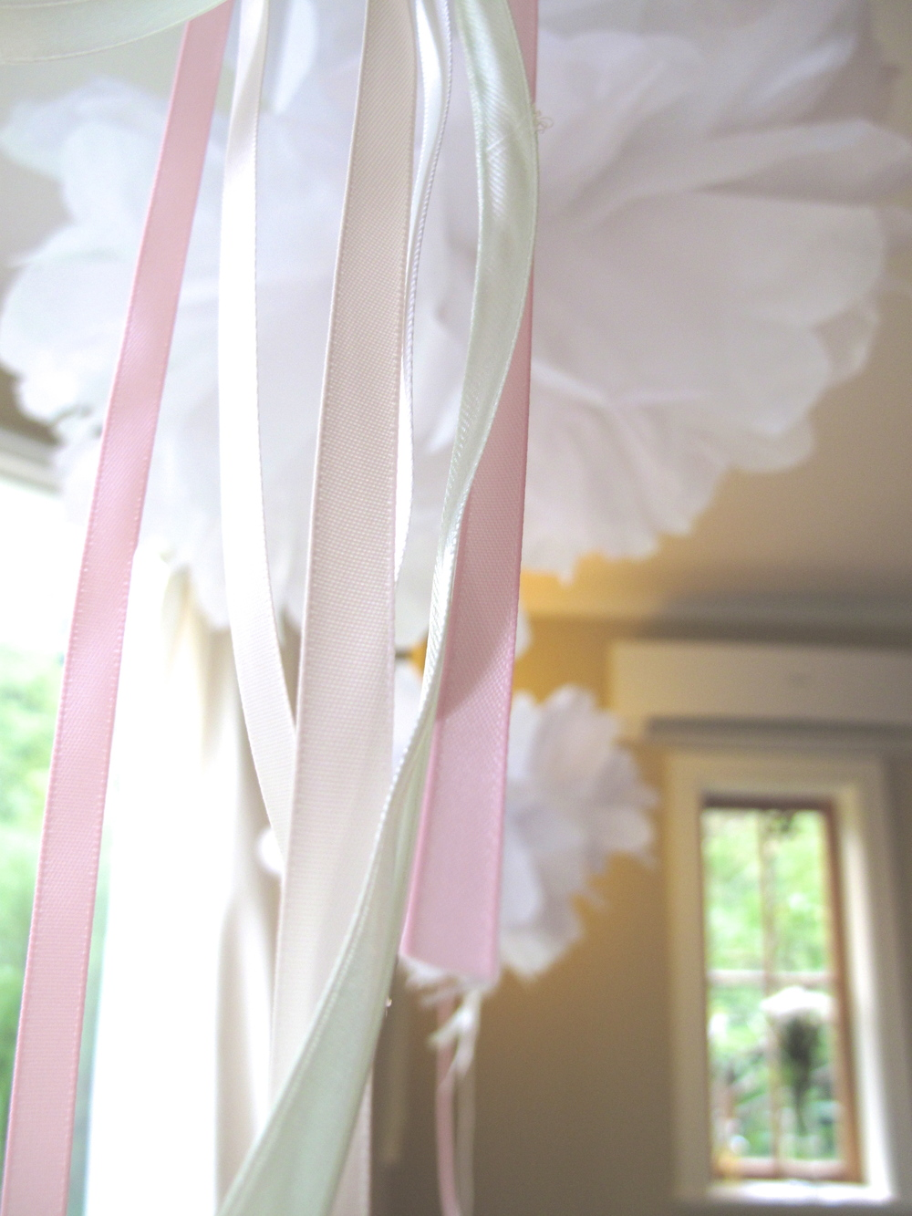Marie Antoinette party decor pompoms and streamers