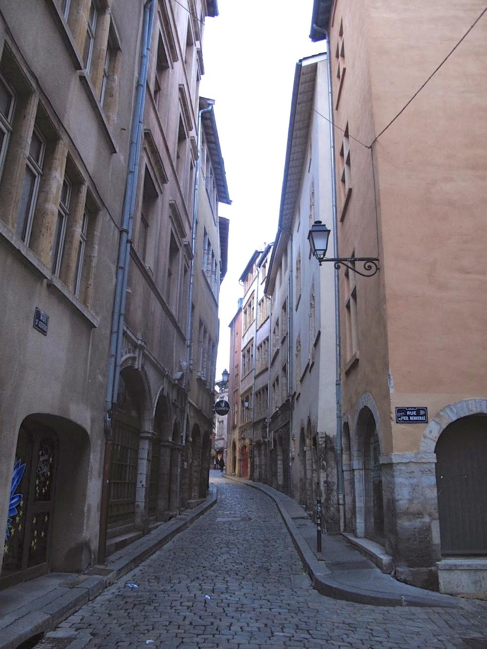 Vieux Lyon narrow streets