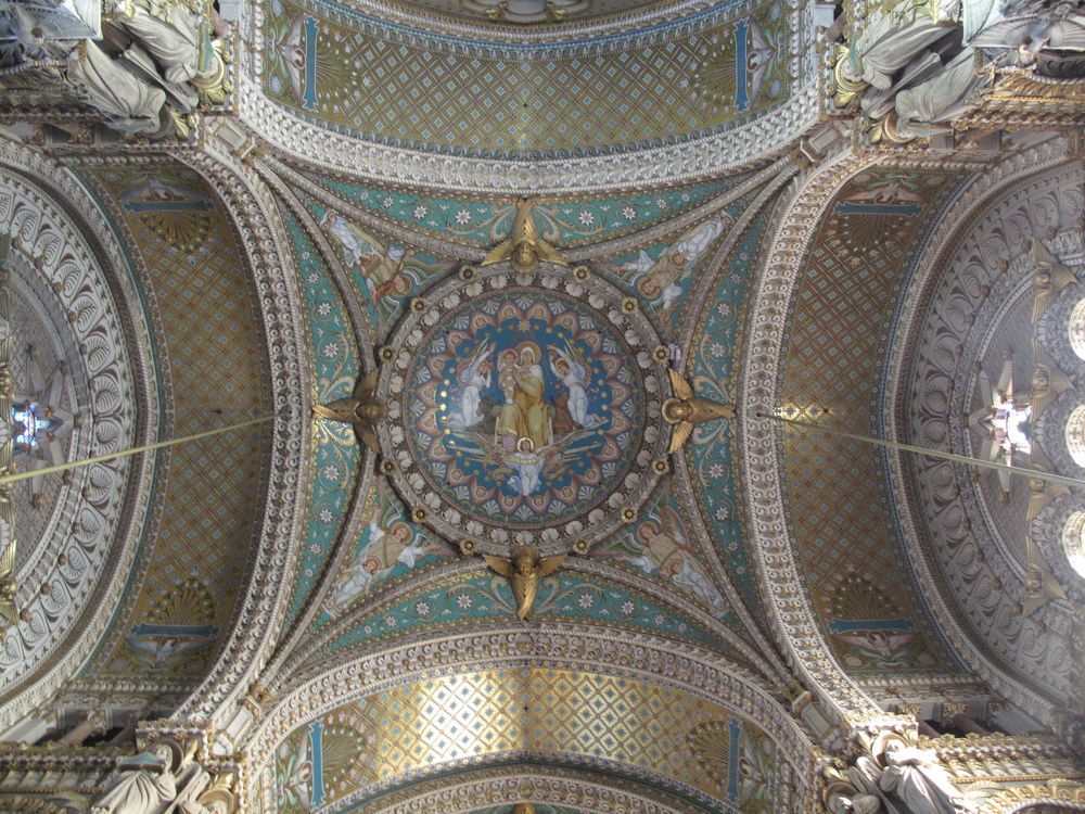 The ceiling of Fourvière, Lyon