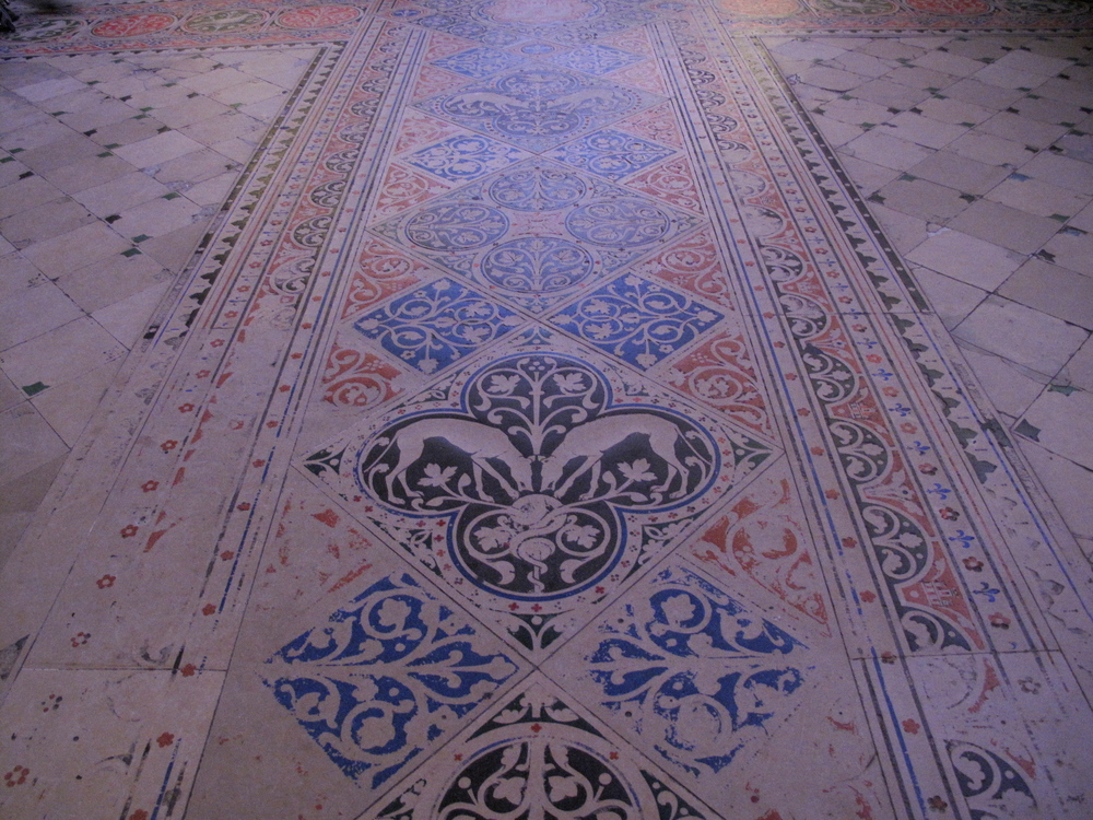 The floor tiles of Sainte Chapelle