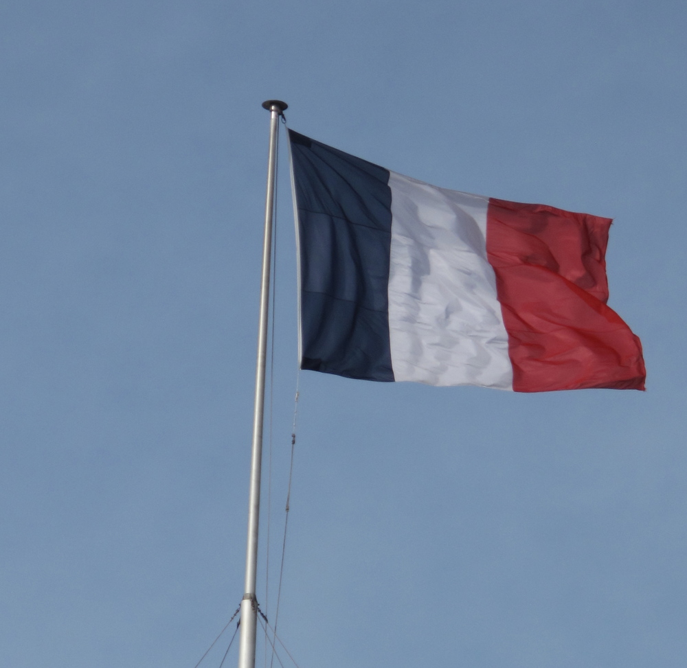 French flag flying in the breeze