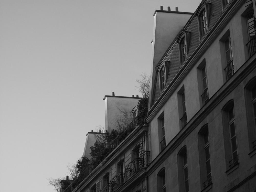 Architecture in Paris haute couture area