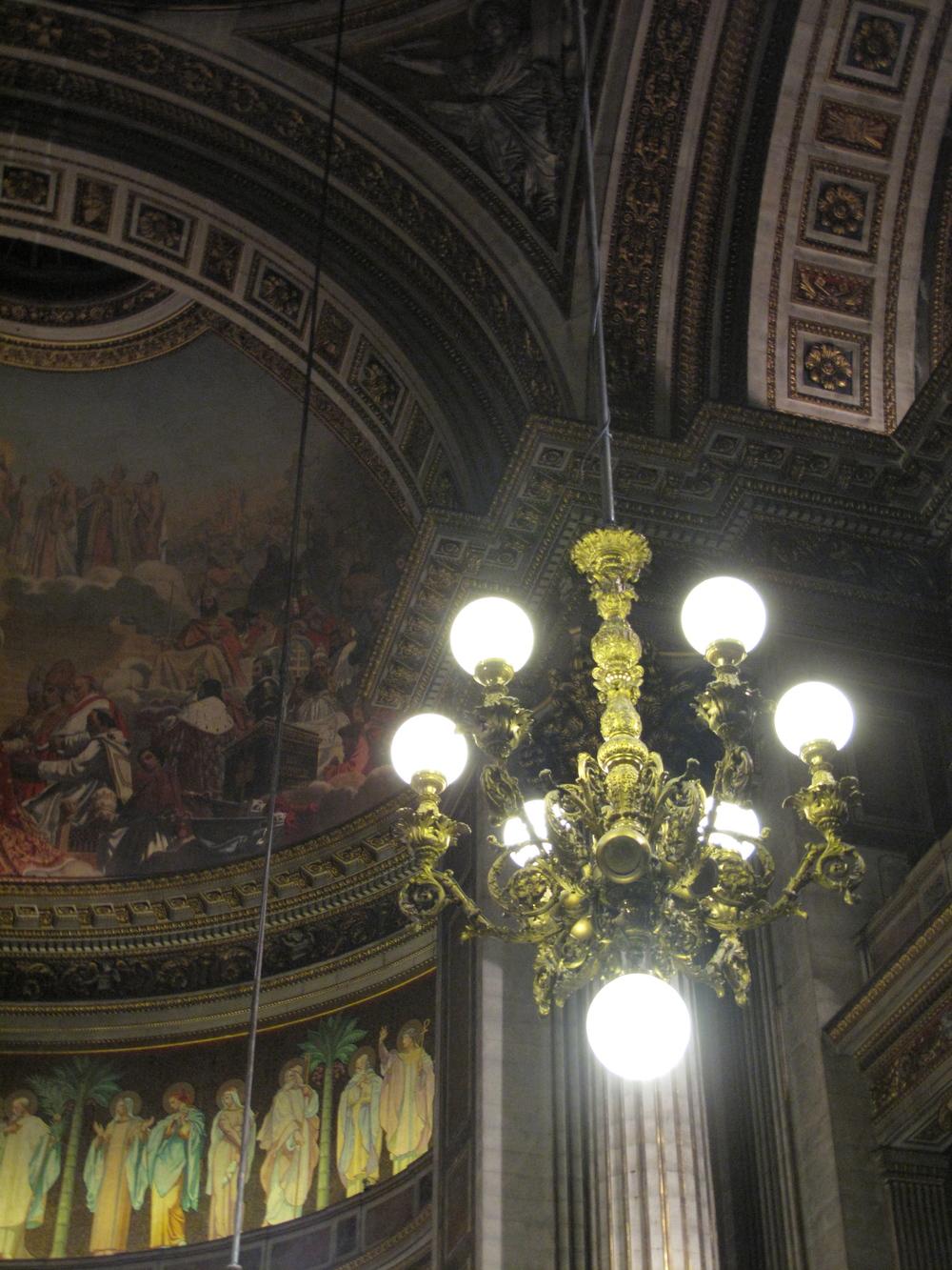 Interior ceiling of l'église de la Madeleine, Paris
