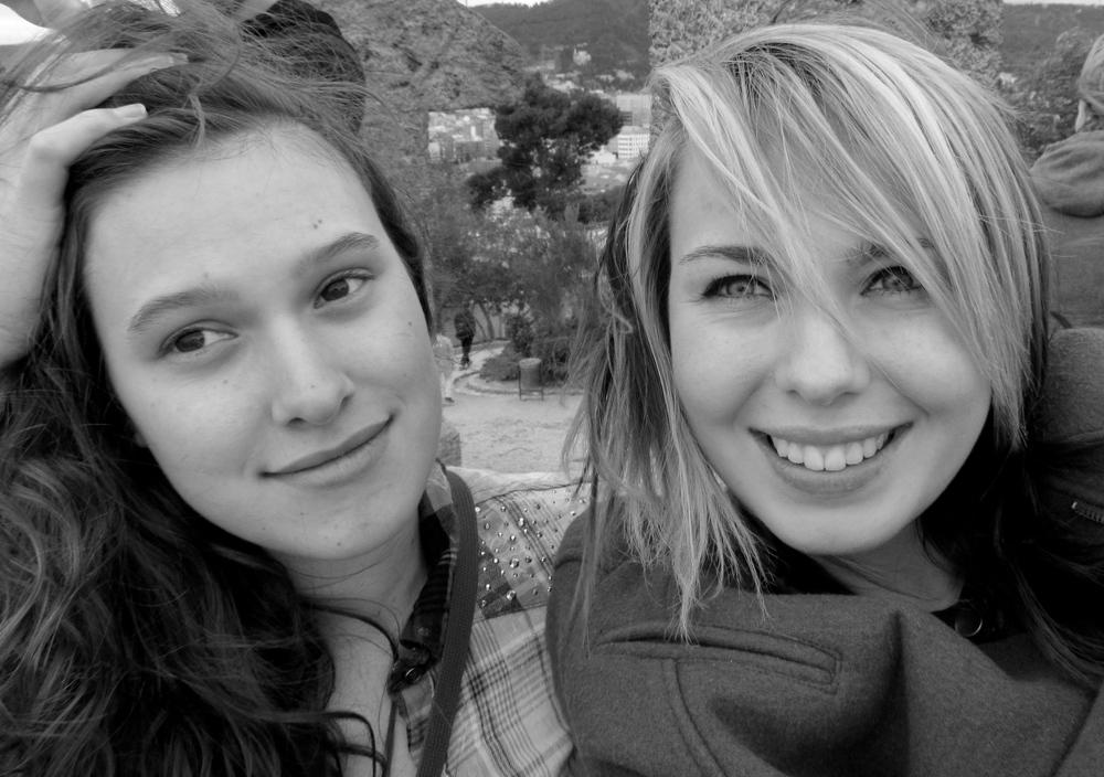 Me and Rita, portrait in Barcelona.